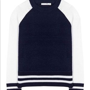 Rag & Bone Navy Baseball Tee Sweater